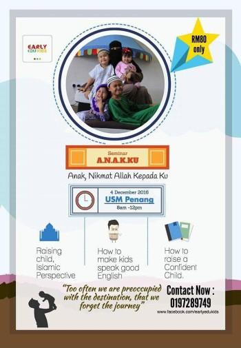 Poster seminar early edukids penang