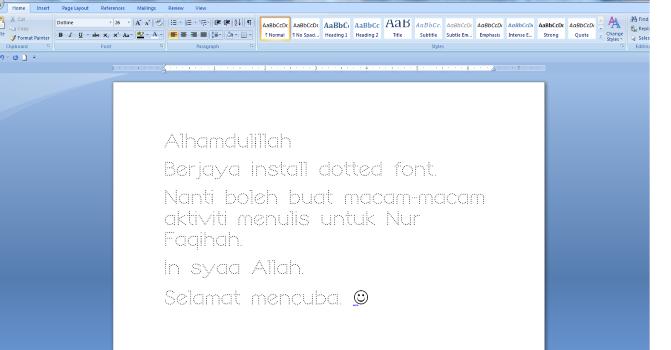 Tutorial tambah font baru