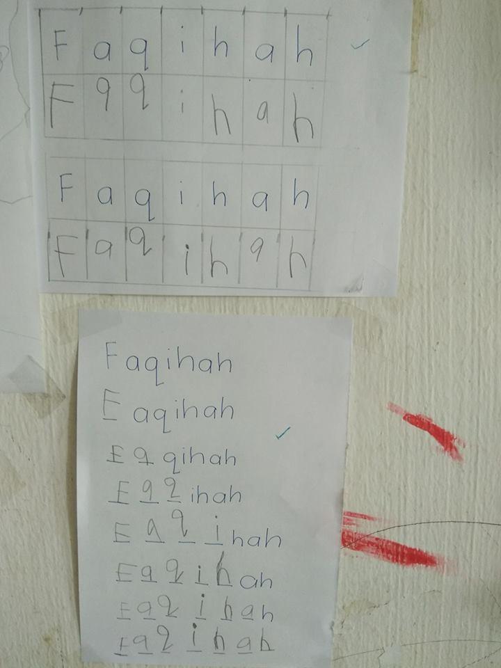 Teknik ulang tulis nama/perkataan
