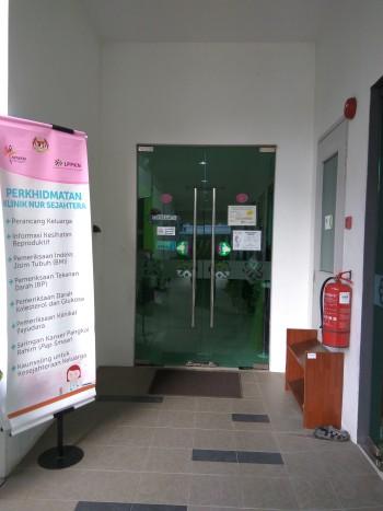 Pintu masuk ke Klinik Sejahtera LPPKN Kepala Batas