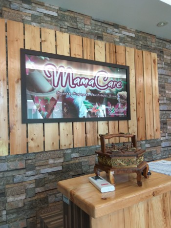 Kaunter pendaftaran Spa Mamacare Pulau Pinang