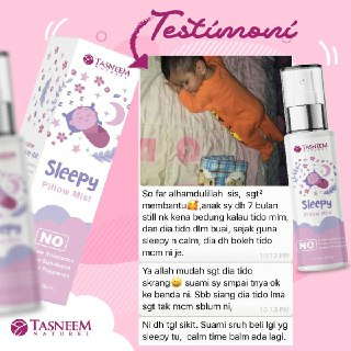 testimoni sleepy pillow mist